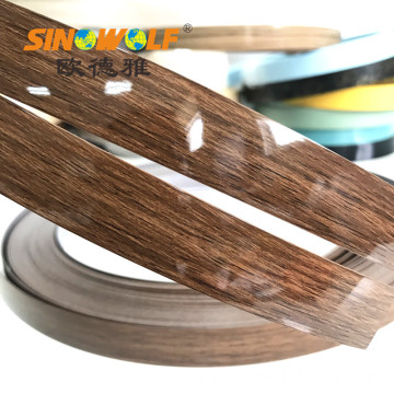 0.4mm hingga 3.0mm High Gloss PVC Edge Banding