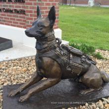 Alibaba china moderna animal escultura metal dog statue