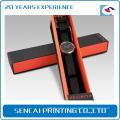 Caixa de relógio de papelão artesanal de luxo feito à mão com tampa
