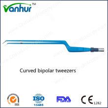 Single Use Curved Bipolar Pinzette für offene Chirurgie