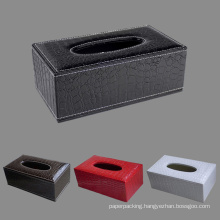 Black /Brown / Red / White Crocodile Leather Tissue Paper Boxes