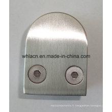 Collier en acier inoxydable pour escalier en verre pour matériel de construction (type D)