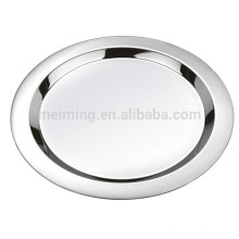 Placa redonda do almoço do aço inoxidável de 16Inch