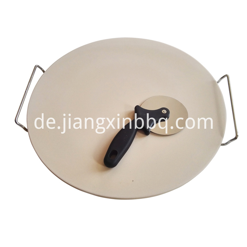 16 Inch Natural White Pizza Stone Set