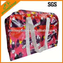 Fashion design laminated woven bag with PP webbing handle