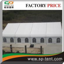 Großes weißes wasserdichtes feuerfestes PVC-Gewebe-Hochleistungs 600 Leute sitzen gebogenes Parteizelt 25x35m