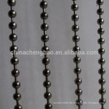 China Lieferant Regenbogen farbigen Edelstahl Perlen Vorhang
