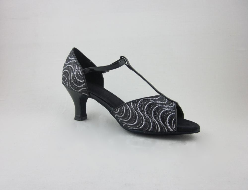 Black And White Latin Shoes