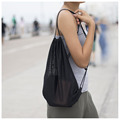 Multi Functional Mesh Bag With Drawstring Straps