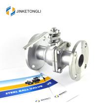 JKTLFB025 aço inoxidável a216 wcb 2pc flutuador teflon 30 válvula de esfera