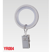 16mm Pole Aluminum Curtain Rod Rings with Clip