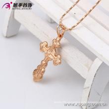 Xuping Rose Gold-Plated cruz joyería de vestuario colgante en cobre ambiental 32397