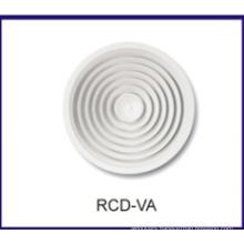 round ceiling diffuser, adjustable grille, HVAC air diffuser