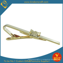 2015 Custom Imitation Gold Plating Soft Enamel Tie Clip