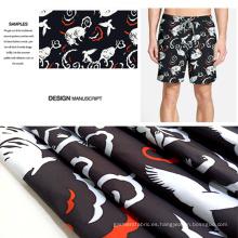 Diseño Animal poliéster cepillado a tela impresa de la ropa Casual de lujo
