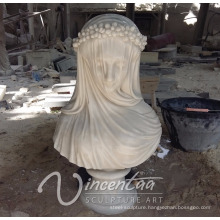 hot sale designer home decor stone carving female marble busts