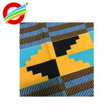 textiles africanos de la impresión de la cera del poliéster real al por mayor para la ropa
