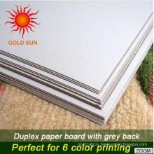 One Side High Quality Coated Duplex Board White Back