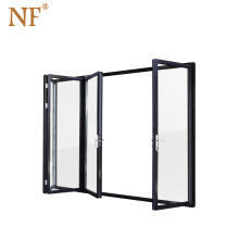 Inward opening outdoor sliding folding door