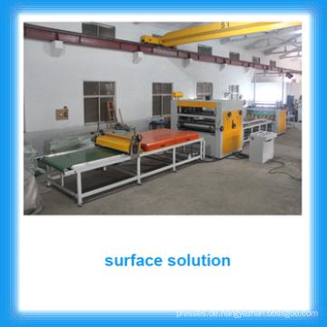 Hochglanzplatten-Fertigungslinie / PUR Heißschmelzklebstoff-Laminiermaschine für MDF-Karton