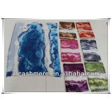 Différentes couleurs de peinture abstraite impression doux châles en cachemire