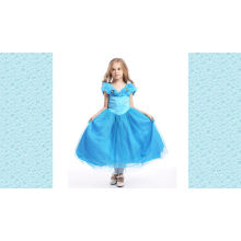 Novo design muitas camadas tutu cor-de-rosa vestido bordado flor menina vestido de tule