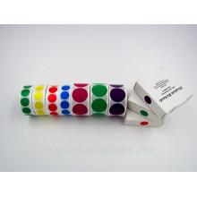 Fornecedor de adesivos de etiqueta de cor redonda colorida