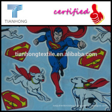 superman and super doggy logo print cotton twill silk touching thin light weight fabric for sleepwear