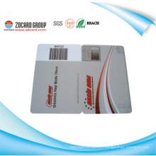 Impression en plastique Carte à code à barres / Jet d'encre Bar Carte / Impression UV Code à barres