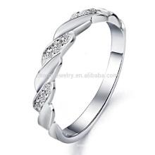 2014 nuevo boutique exquisito de la tendencia de la manera de la venta al por mayor de la joyería que vende el anillo de oro blanco DJ911 de los hombres