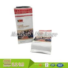 Food Grade Custom Size Printed Aluminum Foil Quad-Sealing 250g 340g 500g 1000g Wholesale Side Gusset Coffee Bag