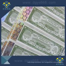 Anti-Fälschung-Papier-Aufkleber mit heißem Stempeln