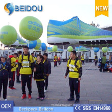 Advertising Balloons Moving Walking LED Lighting Decoration Inflatable Backpack Balloon