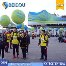 Рекламные шары Перемещение Ходьба Светодиодное освещение Украшение Надувной Рюкзак Воздушный шар