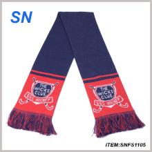 Bufanda del fútbol de la bufanda del fútbol de la bufanda de Jacquard de la fabricación al por mayor de la fábrica