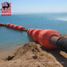 Flotador de tubo de PE relleno de espuma de alta calidad para dragado