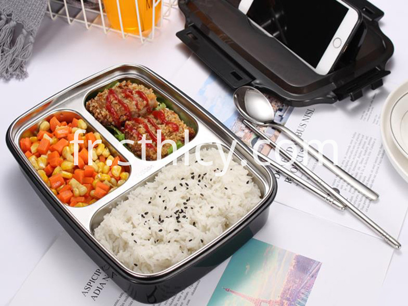 Four compartment lunch box
