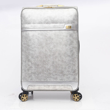 Snake Leather Travel Trolley Bagasi