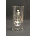 Candelero de cristal / candelero de cristal claro
