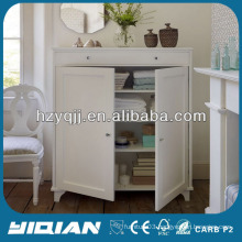 Beautiful White Home Furniture Storage Two Doors Cabinet MDF Side Cabinet