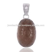 Jóias bonitas de pingente de prata sólida Fluroite Gemstone 925