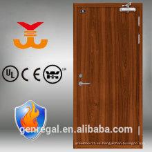 Puerta clasificada fuego de madera del hotel 60 de BS con el marco de acero