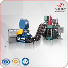 Prensa de briquetas de metal vertical hidráulica automática