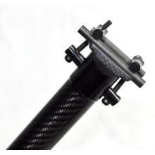 Poste de siège pour plier le siège de siège de siège de siège en fibre de carbone à bicyclette pour plier la tige de selle de vélo 33,9 * 580 mm