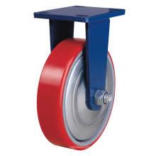 Puit fixe sur roulette en fonte - rouge (5505559)