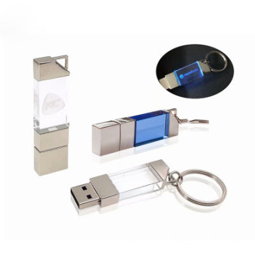 Logotipo 3D da unidade flash USB Crystal Glass pequena