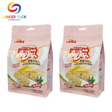 Zipper Dilaminasi Plastik Stand Up Seed Packing