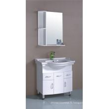 Meubles de Cabinet de salle de bains de PVC 80cm (B-518)