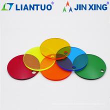 Hojas de acrílico extruido de color personalizado