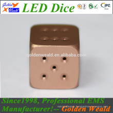 colorful LED aluminium alloy dice